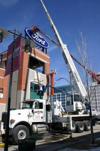The new Ford sign is up at Ballpark Village and ready for Opening Day!