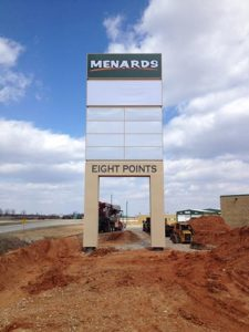 Eight Points pylon sign is up and ready in Poplar Bluff MO!