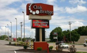 Brand New sign for Oak Bridge Community Church!
