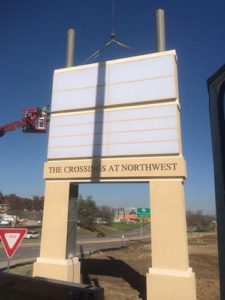 The Crossings at Northwest is officially on the map thanks to Piros Signs!