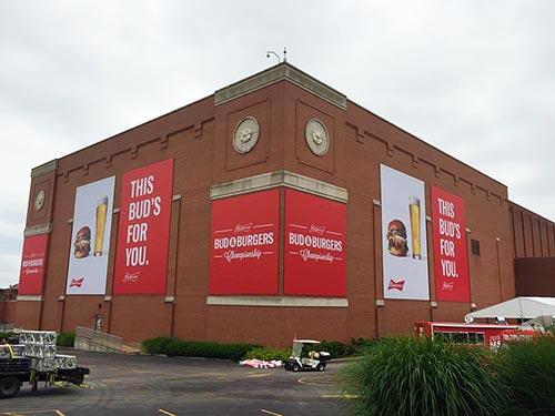 Budweiser Banners Piros