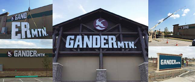 Gander Mtn Sign collage
